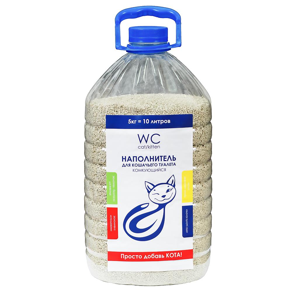 Наполнитель кошачьих туалетов «WC Cat/Kitten» 5 кг (бутылка)